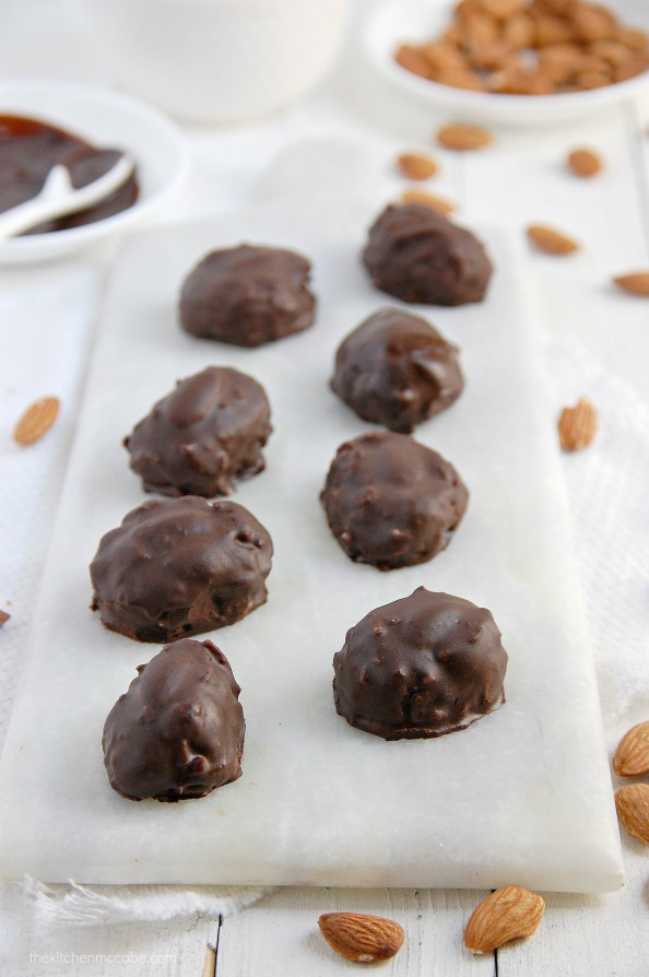 Homemade Almond Joys - Raw, Vegan, Dairy-free, Gluten-free, refined sugar-free | thekitchenmccabe.com