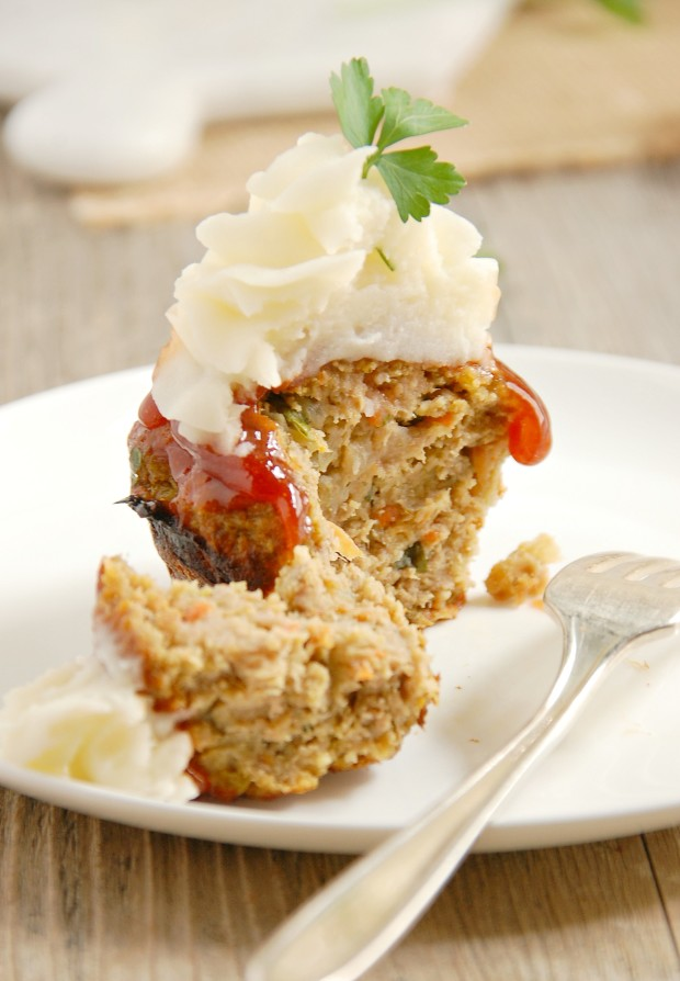 Turkey Meatloaf Muffins/Cupcakes | thekitchenmccabe.com