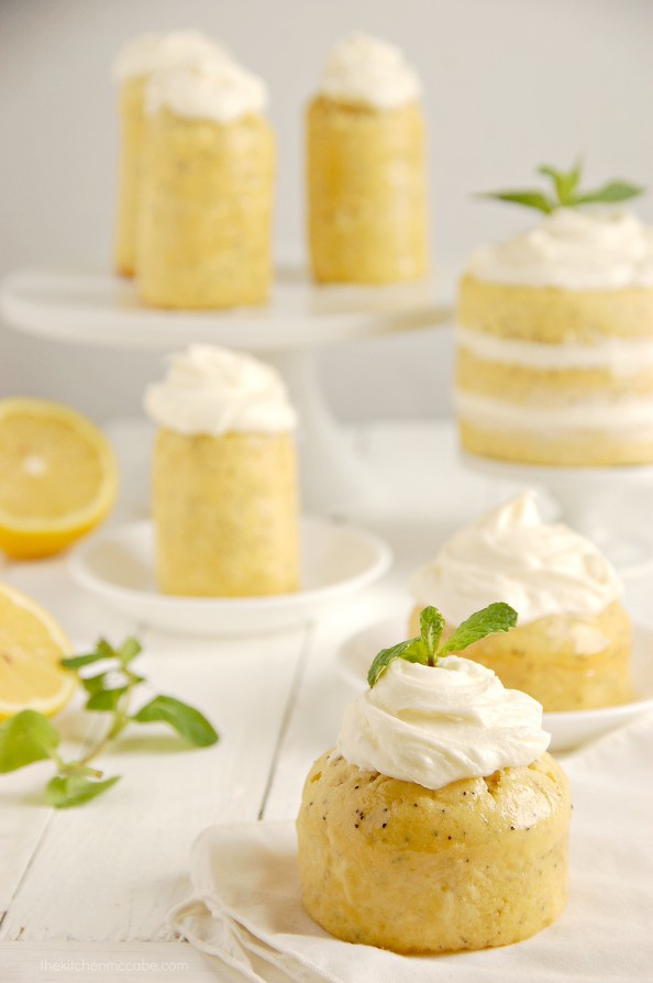 ... lemon soaked poppy cakes. Lemon and poppy seeds are a match made in