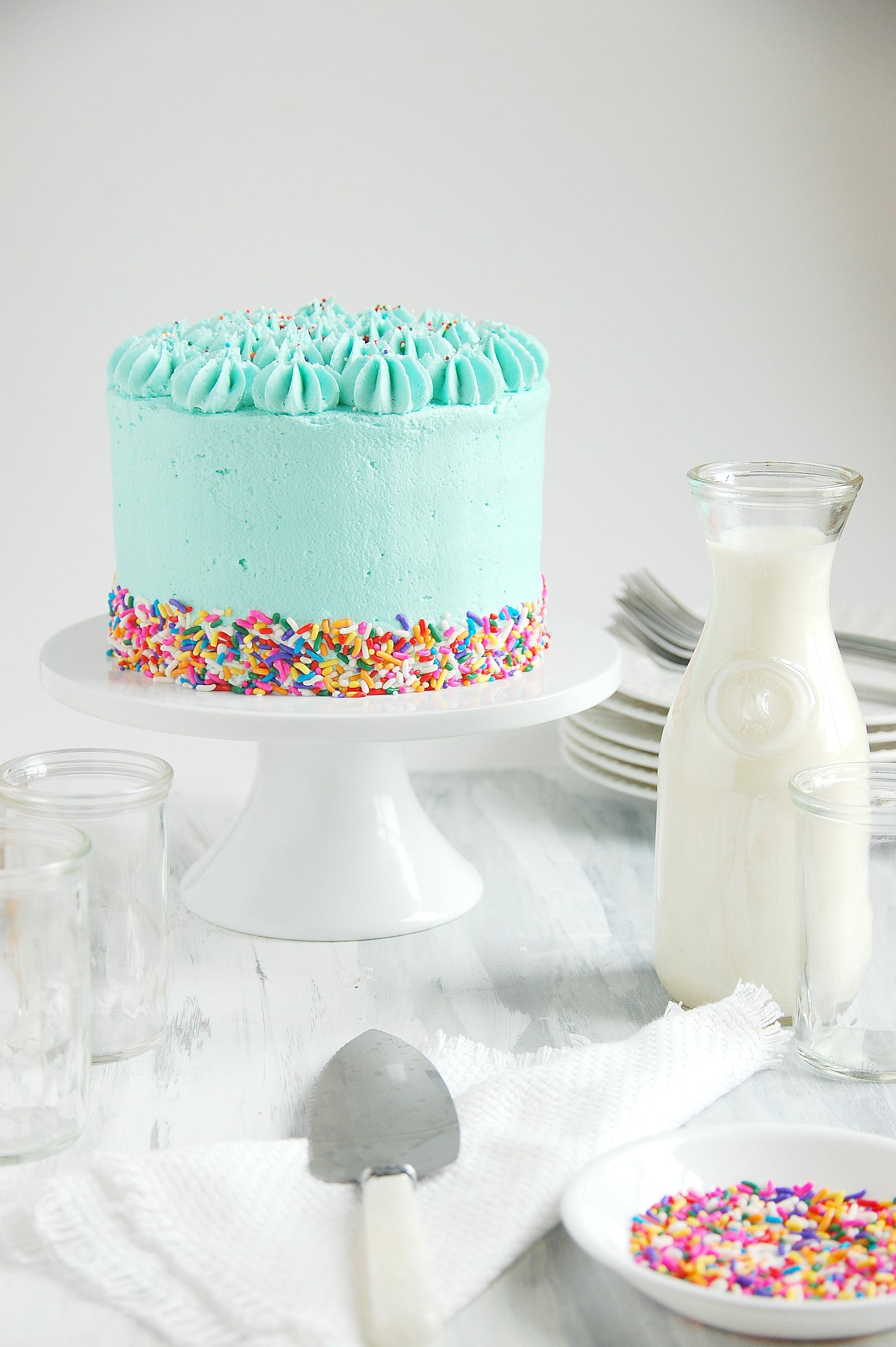 Pleasing Funfetti Birthday Cake Gluten And Dairy Free 3 The Kitchen Mccabe Personalised Birthday Cards Paralily Jamesorg