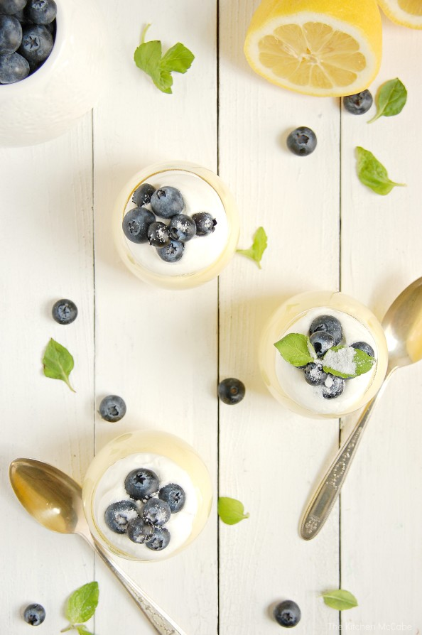 Lemon Curd Mousse with Blueberries | thekitchenmccabe.com