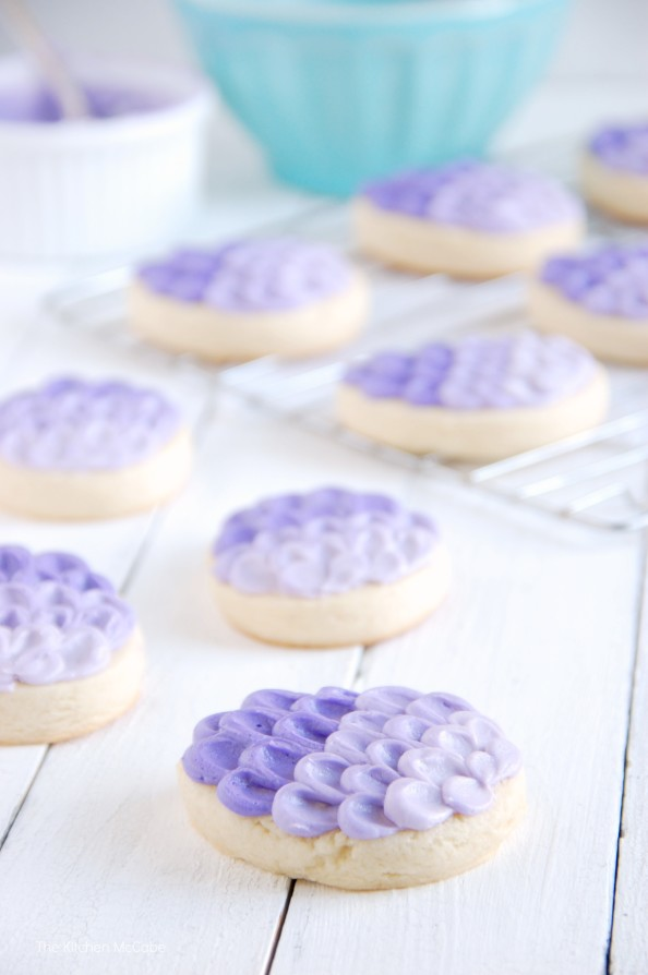 Super Soft Sugar Cookie Recipe & Ombre Egg Tutorial | thekitchenmccabe.com