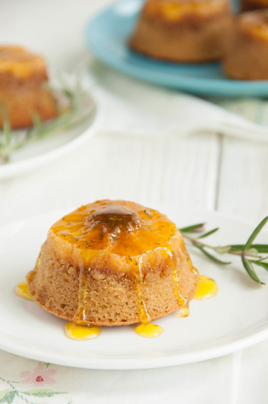 Butterscotch Clementine Upside-down Cakes with Rosemary Orange Syrup ...