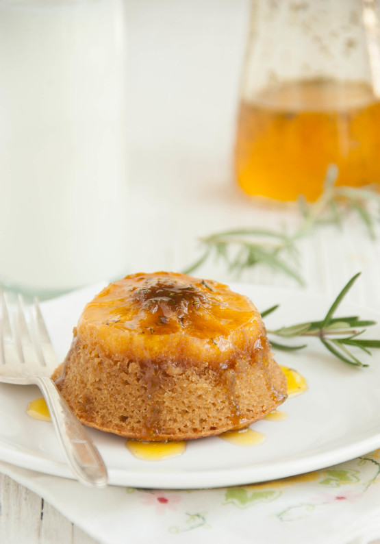 Butterscotch Clementine Upside-down Cakes with Rosemary Orange Syrup | thekitchenmccabe.com