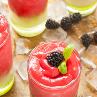 Frozen Blackberry Basil Lemonade | thekitchenmccabe.com