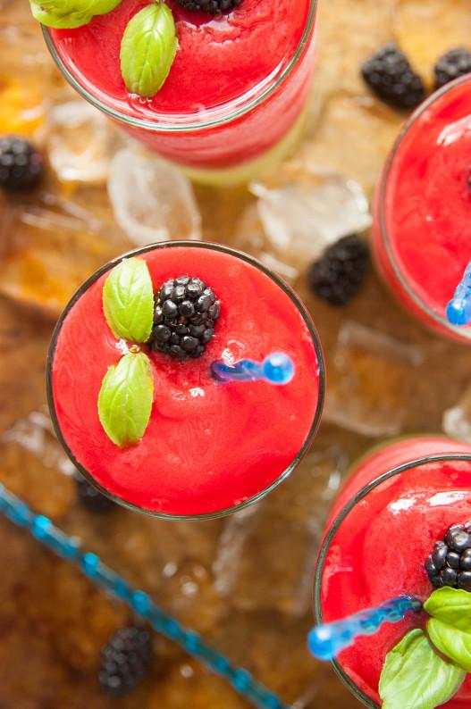 Frozen Blackberry Basil Lemonade The Kitchen Mccabe
