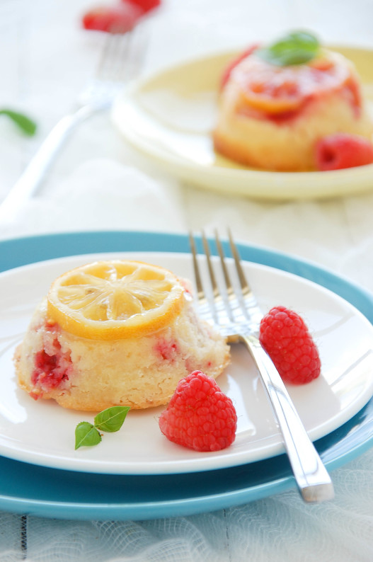 Raspberry Lemon Upside-down Tea Cakes | thekitchenmccabe.com