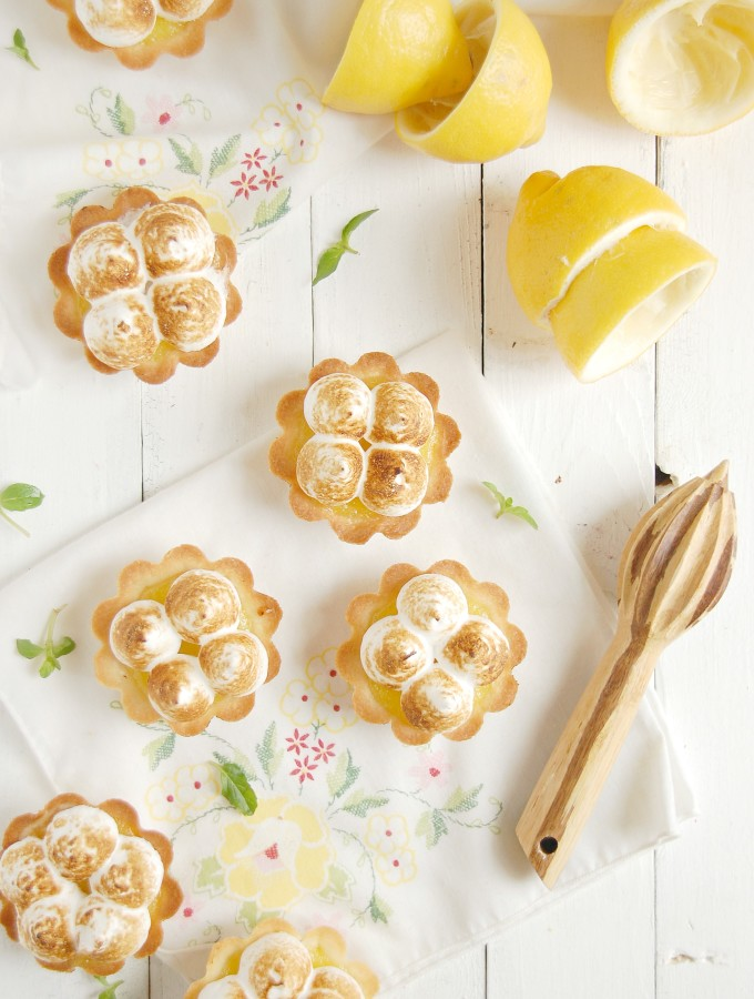 Lemon Meringue Shortbread Tartlets