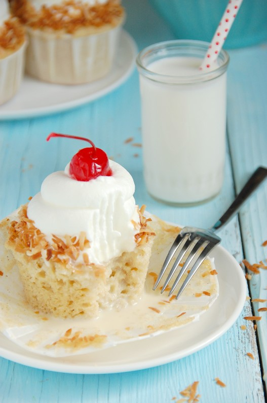 Coconut-laced Tres Leches Cupcakes | .com