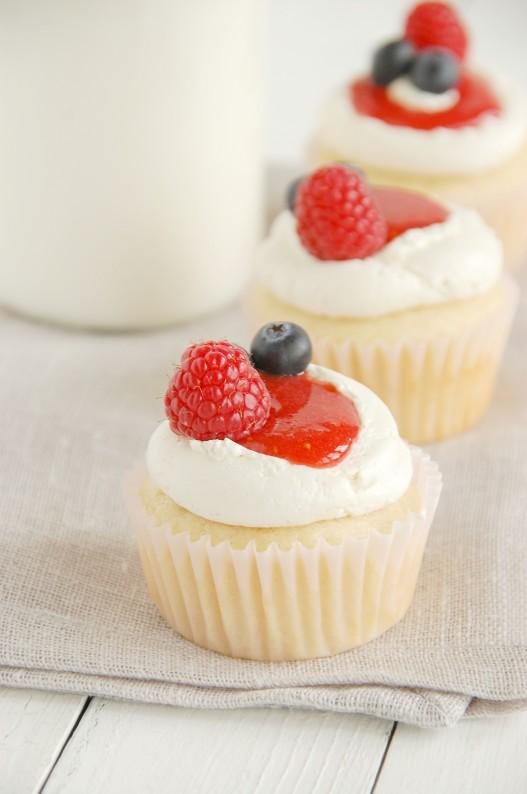 Strawberry Scented Cupcakes | thekitchenmccabe.com