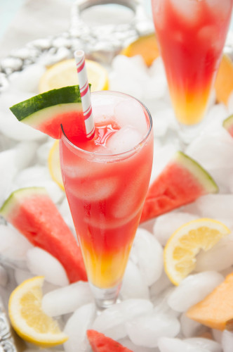 Watermelon Cantaloupe Lemonade | thekitchenmccabe.com