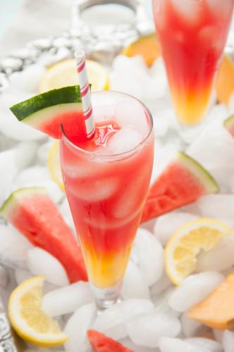 Watermelon Cantaloupe Lemonade | thekitchenmccabe.com