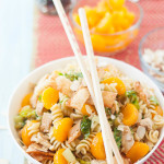 Asian Sesame Chicken Wonton Pasta Salad