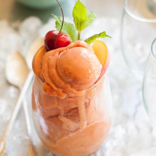 Cherry Nectarine Mint Sorbet | thekitchenmccabe.com