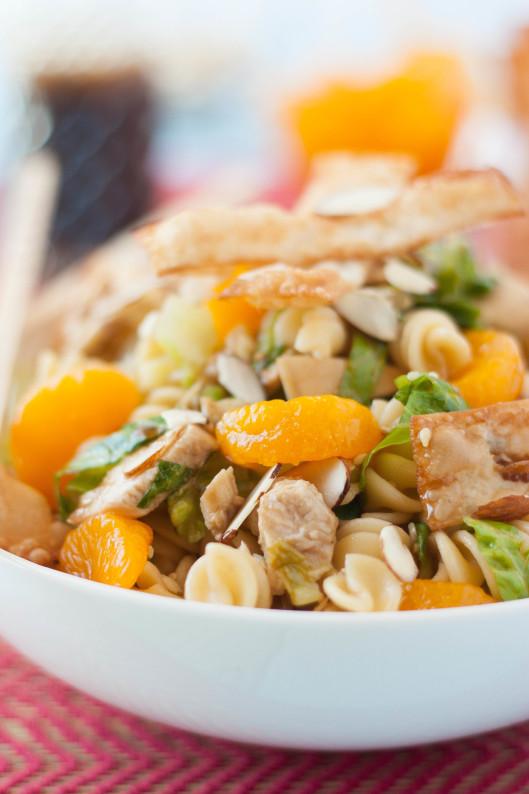 Asian Sesame Chicken Wonton Salad | thekitchenmccabe.com