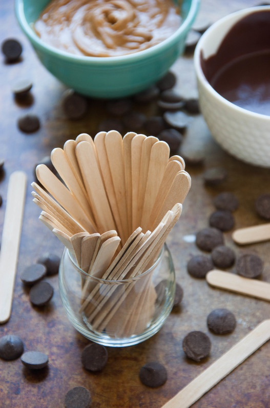 Chocolate Peanut Butter Swirl Mousse Pops | thekitchenmccabe.com