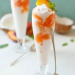 Coconut Peach Lemonade Slushies