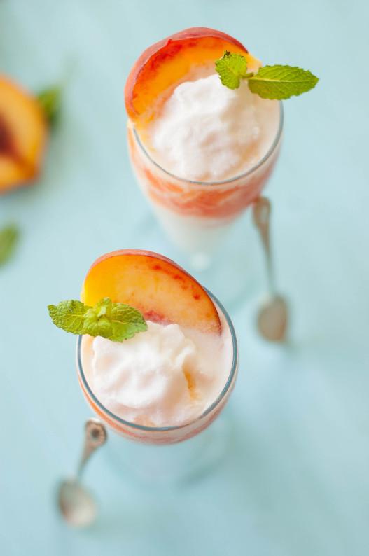 Coconut Peach Lemonade Slushies | thekitchenmccabe.com