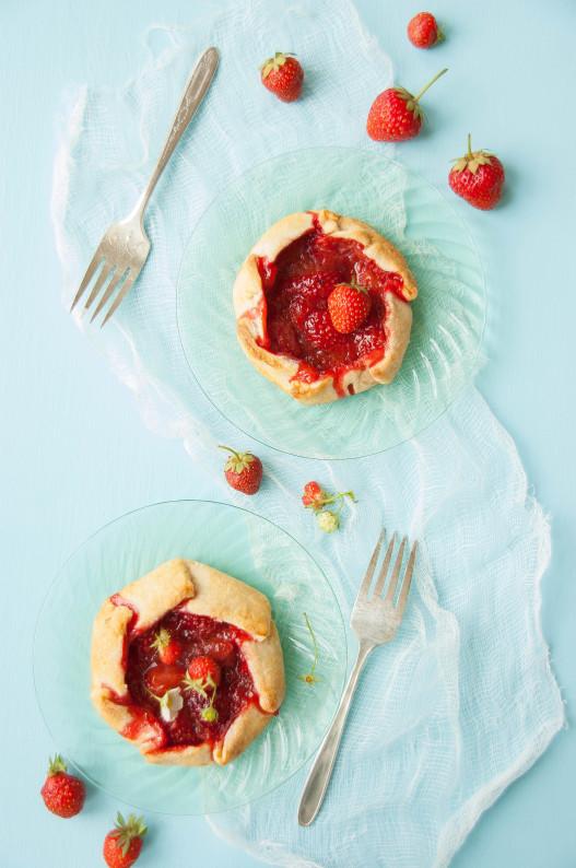Strawberry Rhubarb Galettes with Homemade Vanilla Ice Cream   thekitchenmccabe.com