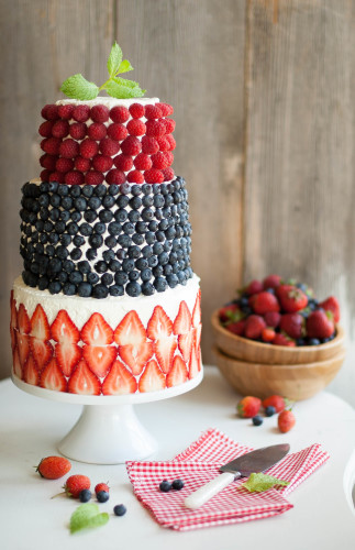 A Berry Covered Birthday Cake | thekitchenmccabe.com