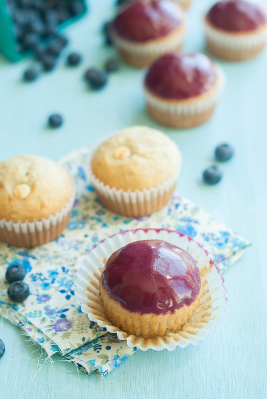 Banana Bread White Chocolate Chip Blueberry Glazed Muffins - The ...