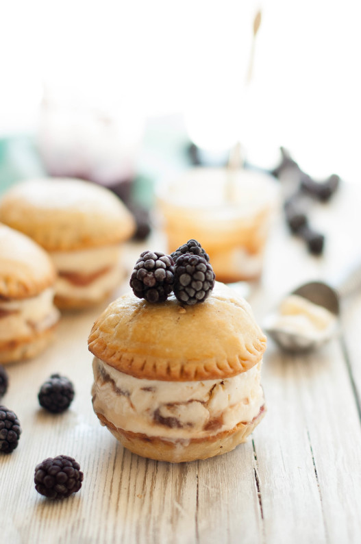 Blackberry Mascarpone Salted Caramel Ice Cream Sandwiches | thekitchenmccabe.com