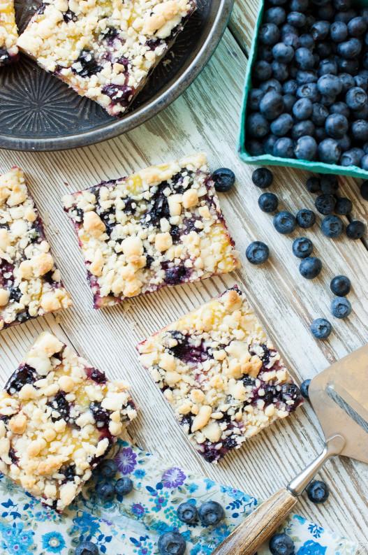 Blueberry Lemon Shortbread Crumble Bars   thekitchenmccabe.com