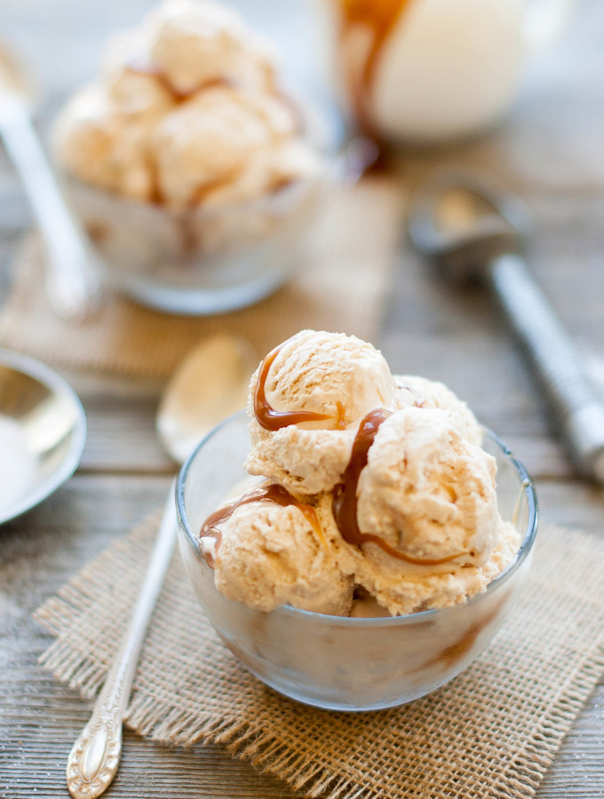 Homemade Salted Caramel Ice Cream