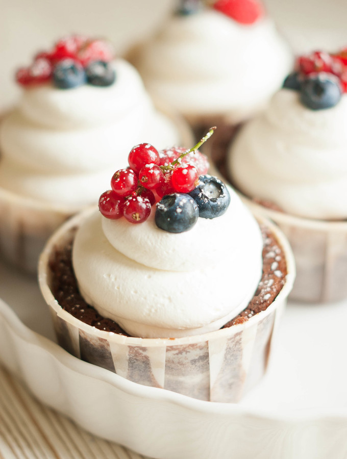 Chocolate Berry Truffle Cream Cakes