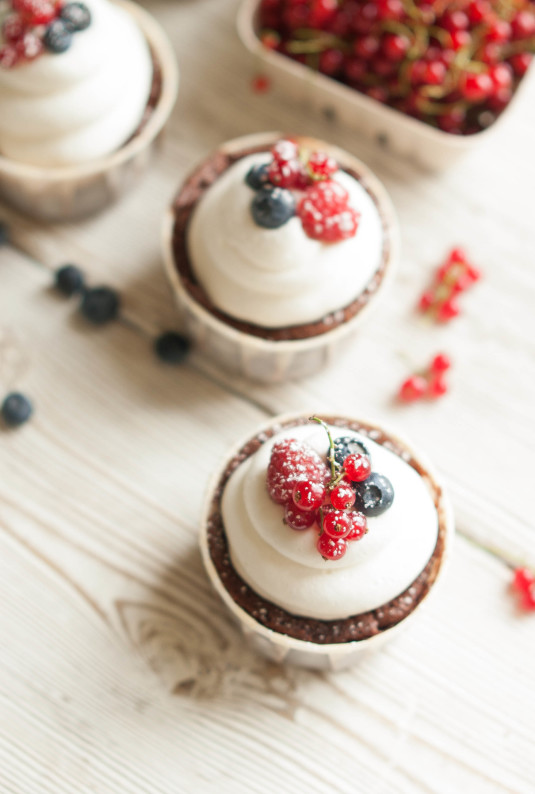 Chocolate Berry Truffle Cream Cakes | thekitchenmccabe.com