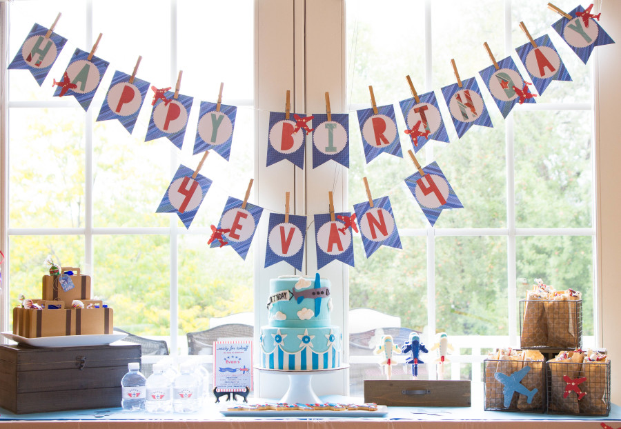 A Vintage Airplane Themed Birthday Party | thekitchenmccabe.com