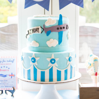 An Airplane themed cake and Birthday Party | thekitchenmccabe.com