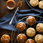 Caramel Apple Pumpkin Spice Muffins with Salted Caramel Glaze