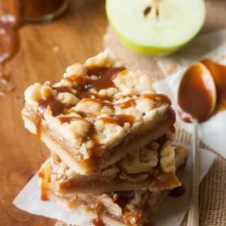Caramel Apple Shortbread Crumble Bars | thekitchenmccabe.com