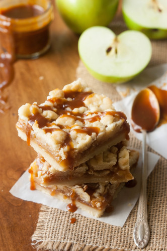 Caramel Apple Pumpkin Spiced Muffins with Salted Caramel Glaze | thekitchenmccabe.com
