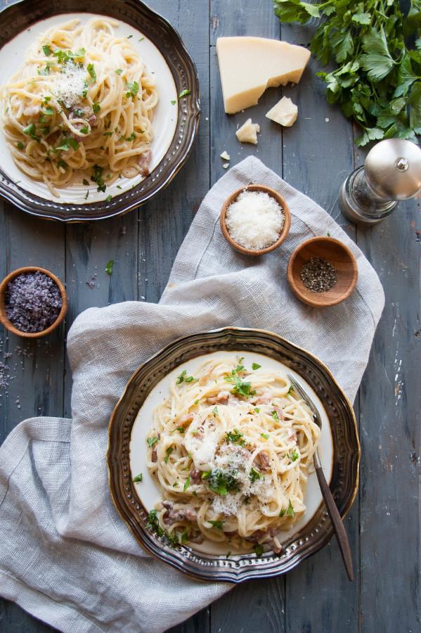 Pasta Carbonara ~Quick & Simple~ | thekitchenmccabe.com