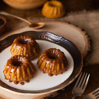 Browned Butter Caramel Pumpkin Spice Mini Bundt Cakes | thekitchenmccabe.com