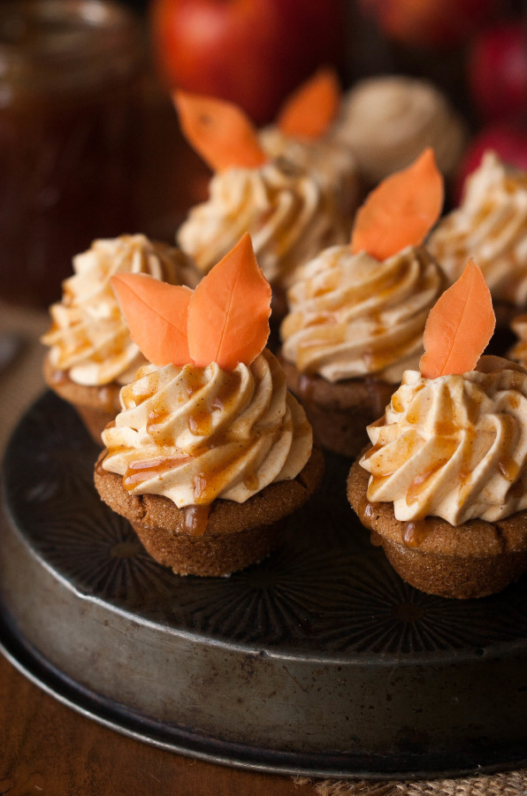 Gingerbread Cookie Cups with Pumpkin Mousse & Cider Caramel