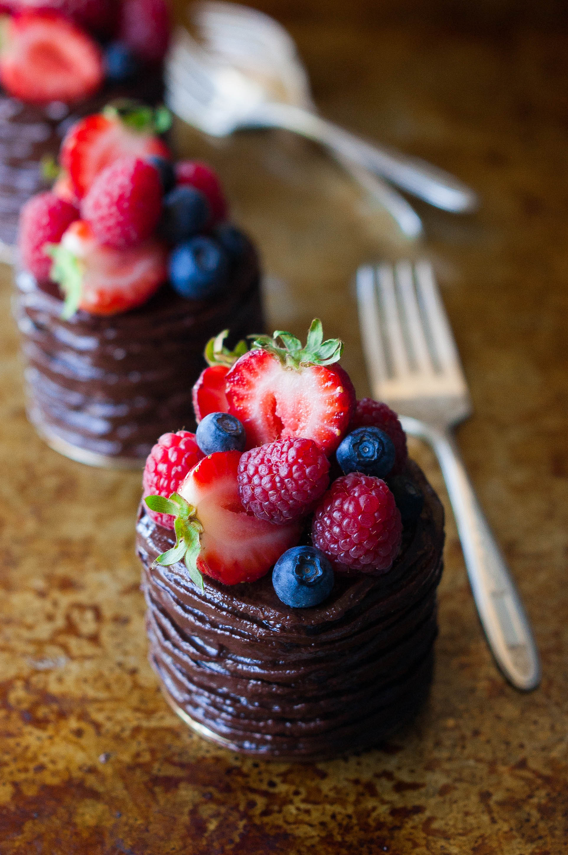 mini double chocolate berry cakes the kitchen mccabe
