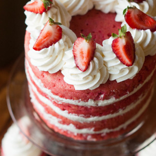 Made from Scratch Strawberries & Cream Cake | thekitchenmccabe.com