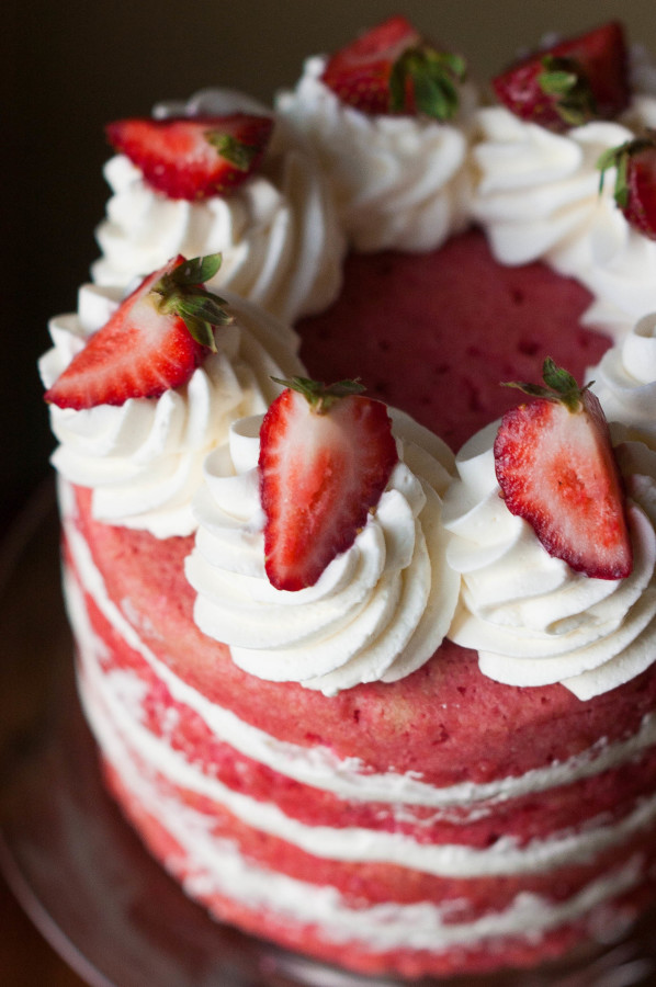 from scratch strawberries cream cake print this recipe makes 1 8 cake ...