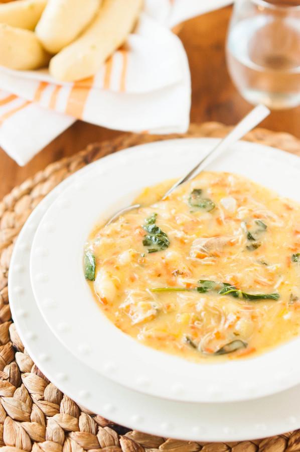 Slow Cooker Creamy Chicken Gnocchi Soup   thekitchenmccabe.com