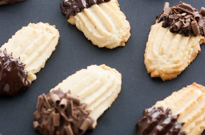 Chocolate Dipped Italian Butter Cookies | thekitchenmccabe.com