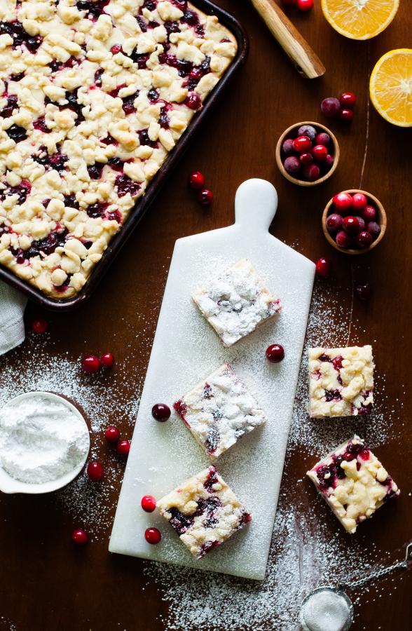 Cranberry Cheesecake Shortbread Crumble Bars   thekitchenmccabe.com