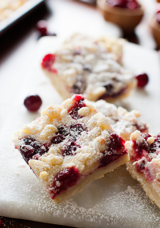 More shortbread is crumbled over the cheesecake and then the bars are ...