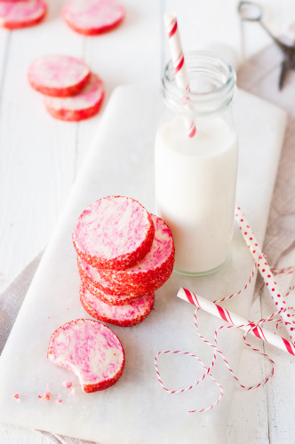 Peppermint Meltaway Icebox Cookies | thekitchenmccabe.com
