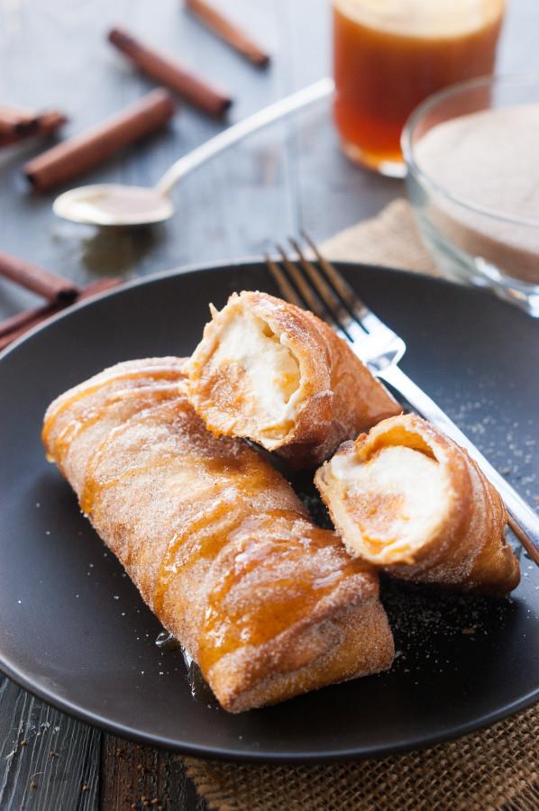 Pumpkin Pie Cheesecake Chimichangas | thekitchenmccabe.com
