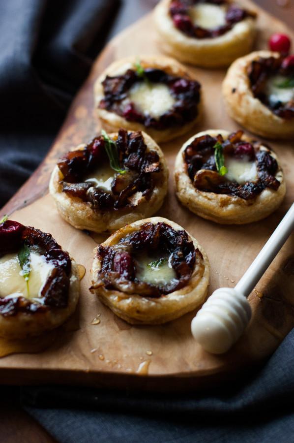 Caramelized Onion Cranberry Swiss Tartlets   thekitchenmccabe.com