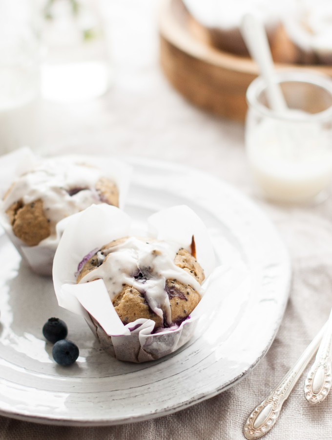 Blueberry Meyer Lemon Chia Seed Muffins