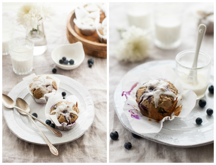 Blueberry Meyer Lemon Chia Seed Muffins | thekitchenmccabe.com
